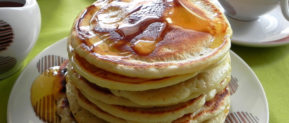 American pancakes light and with fiber