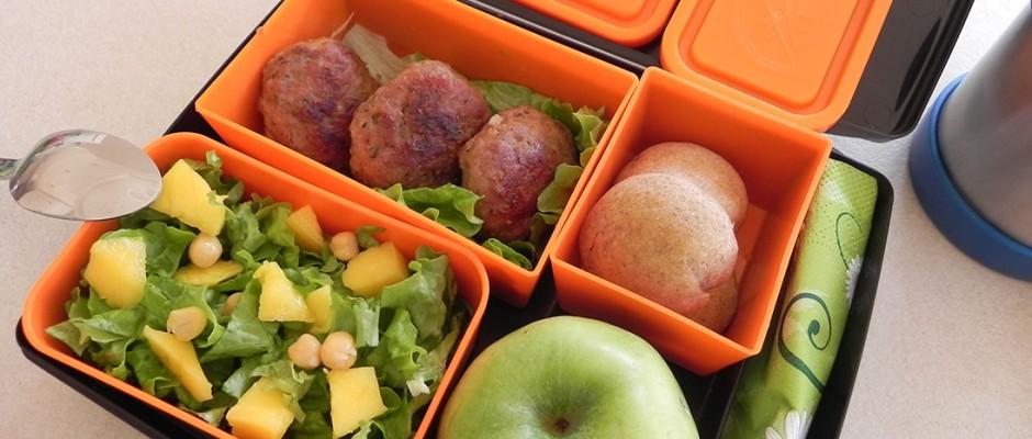 Lunchbox menu: Meatballs for school or work