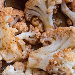 cauliflower with vegan ranch sauce