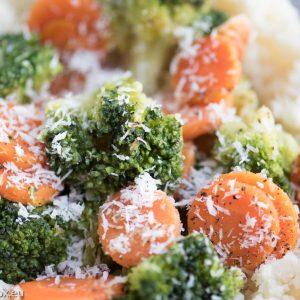 cauliflower rice with coconut veggies