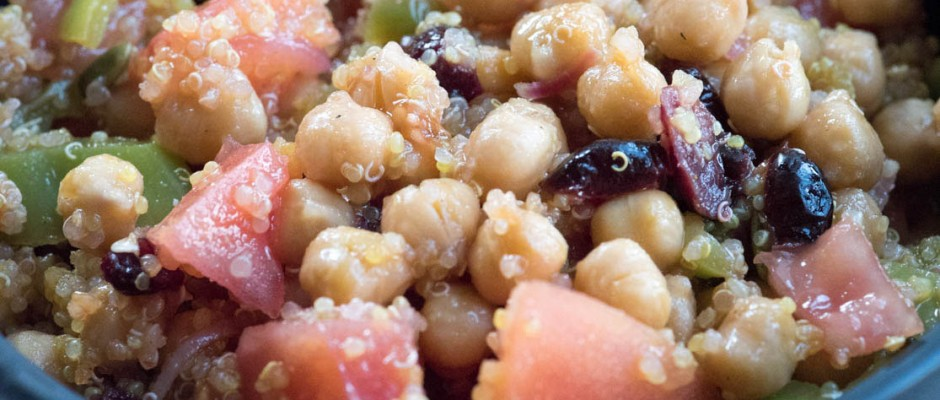 chickpeas with curried quinoa