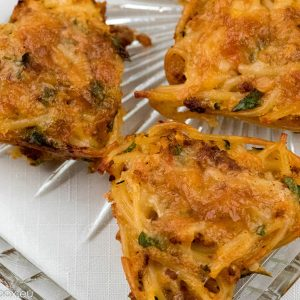 leftover pasta muffins for lunchbox
