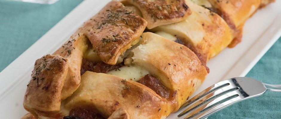 leftover bolognese bread for lunchbox