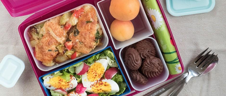 lunchbox menu Cobbler with zucchini