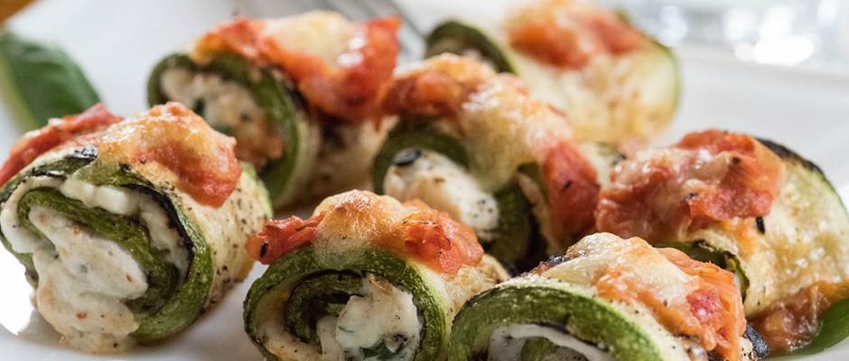 Lunchbox menu zucchini rolls