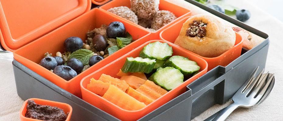 vegan lunchbox box menu