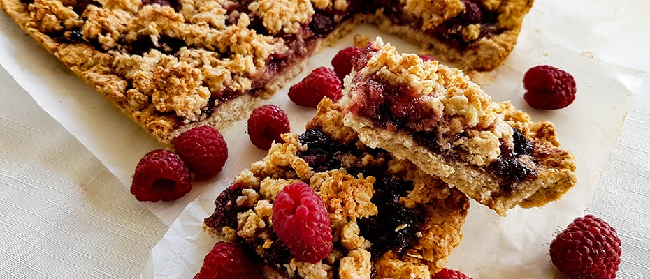 fiber raspberry bars
