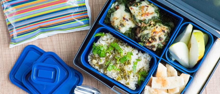 Lunchbox menu: Baked mushrooms