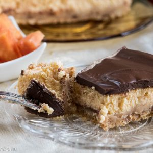 Light chocolate papaya cheesecake
