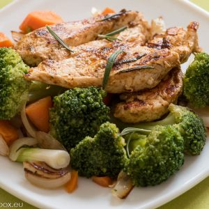 chicken and broccoli with rosemary