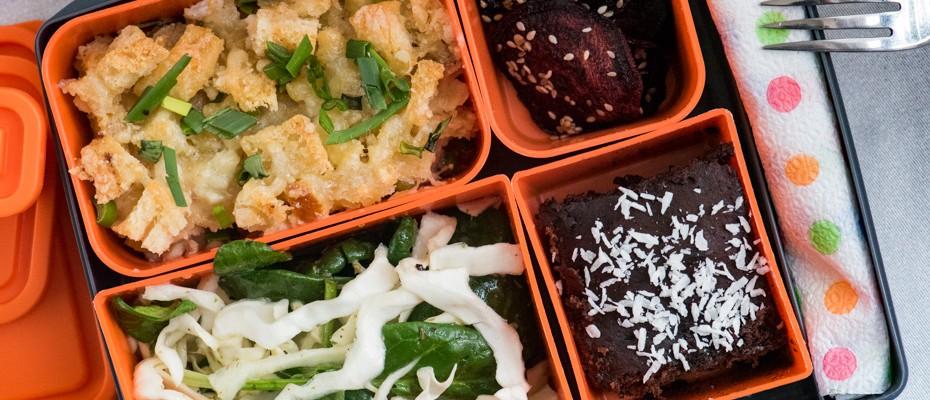 Lunchbox menu Leftover pie