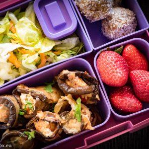 Lunchbox eggplant with riccota