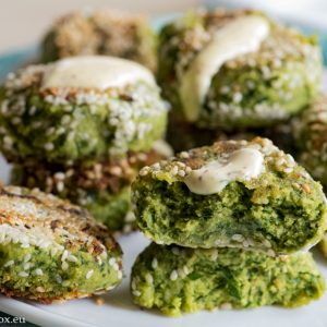 Falafel and greens