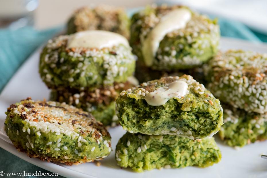 Falafel and greens