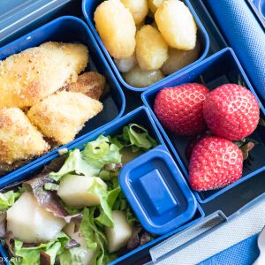 Lunchbox menu: Пилешки хапки в лимонов сос