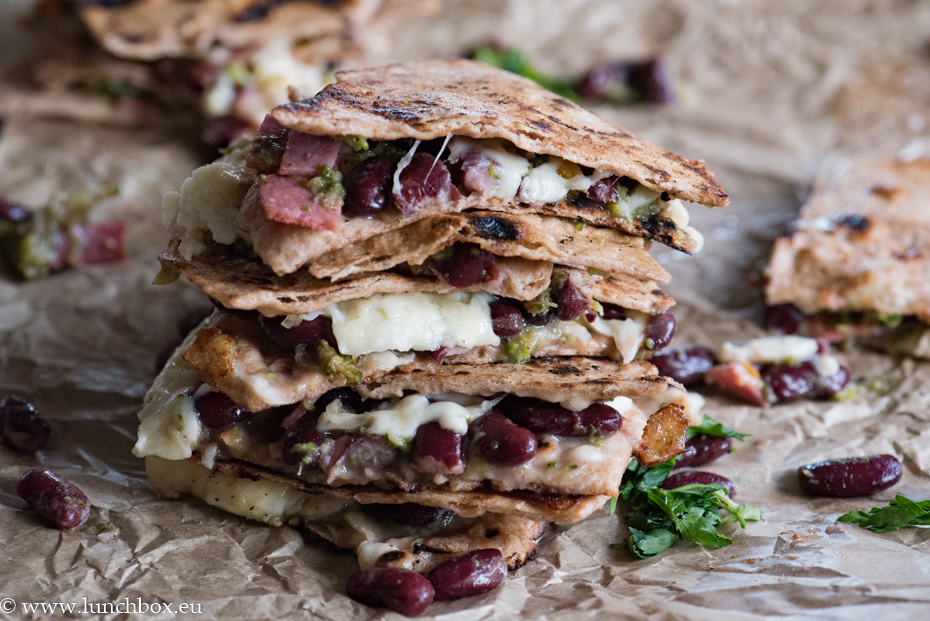 Broccoli and Red Bean Quesadillas