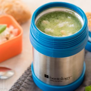 Spinach steamed soup