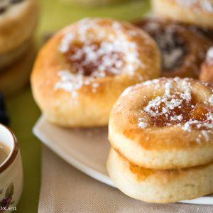 Round kolaches for breakfast